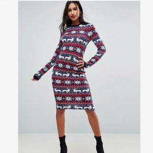 New fairisle Holiday bodycon dress
